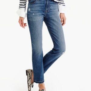 J. Crew Vintage crop jeans in Rhodes Wash.